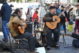 Tango op straat in Buenos Aires.